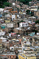Aerial view of Colorful Mexican cityscape, #5838. Guanajuato, Mexico.