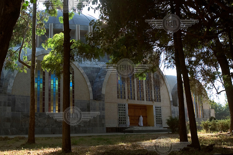 The New Saint Mary of Zion church, built in the 1950s.
