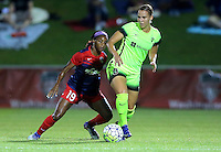 Boyds, MD - Wednesday Sept. 07, 2016: Crystal Dunn, Merritt Mathias during a regular season National Women's Soccer League (NWSL) match between the Washington Spirit and the Seattle Reign FC at Maureen Hendricks Field, Maryland SoccerPlex.