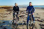 Enjoying a cycle on Ballyheigue beach on Good Friday, l to r: Kevin Naughton and Ben Quill.