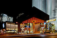 The Bechtler Museum of Modern Art at night in Uptown / Downtown / Center City Charlotte. Photo taken December 2010.