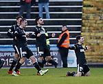 Lewis Morgan celebrates his opening goal for St Mirren