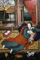 "Mughal India:  ""Madonna and Child"", 1599-1600.  European influences--the text vague on this."