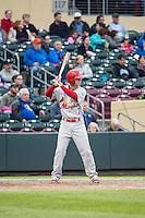 Matt Williams (7) of the Memphis Redbirds at bat against the Omaha Storm Chasers in Pacific Coast League action at Werner Park on April 24, 2015 in Papillion, Nebraska.  (Stephen Smith/Four Seam Images)