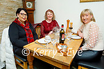 Rita Turner, Pauline Evans and Bridget O'Connor enjoying the evening in Bella Bia on Friday.