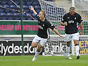 27/09/2008  Copyright Pic: James Stewart.File Name : sct_jspa09_falkirk_v_hamilton.SCOTT ARFIELD CELEBRATES AFTER HE SCORES FALKIRK'S SECOND.James Stewart Photo Agency 19 Carronlea Drive, Falkirk. FK2 8DN      Vat Reg No. 607 6932 25.Studio      : +44 (0)1324 611191 .Mobile      : +44 (0)7721 416997.E-mail  :  jim@jspa.co.uk.If you require further information then contact Jim Stewart on any of the numbers above........