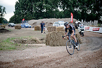 Tiesj Benoot (BEL/DSM) over the gravel<br /> <br /> Antwerp Port Epic / Sels Trophy 2021 (BEL)<br /> One day race from Antwerp to Antwerp (183km)<br /> <br /> The APC stands qualified as a 'road race', but with 36km of gravel and 28km of cobbled sections in and around the Port of Antwerp (BEL) this race occupies a unique spot in the Belgian race scene.<br /> <br /> ©kramon