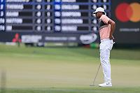 4th September 2020, Atlanta GA, USA;  Tony Finau surveys the 9th green during the first round of the TOUR Championship  At the East Lake Golf Club in Atlanta, GA.