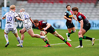 20th March 2021; Twickenham Stoop, London, England; English Premiership Rugby, Harlequins versus Gloucester; Harlequins, Gloucester; Charlie Sharples of Gloucester trying to run wide of Alex Dombrandt of Harlequins