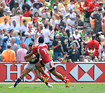 Tonga vs Hong Kong on Day 2 of the 2012 Cathay Pacific / HSBC Hong Kong Sevens at the Hong Kong Stadium in Hong Kong, China on 24th March 2012. Photo © Victor Fraile  / The Power of Sport Images