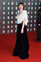 Jessie Buckley<br /> arriving for the BAFTA Film Awards 2020 at the Royal Albert Hall, London.<br /> <br /> ©Ash Knotek  D3554 02/02/2020