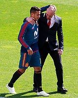 Spain's Thiago Alcantara (l) with the RFEF's President Luis Rubiales during training session. June 5,2018.(ALTERPHOTOS/Acero) /NortePhoto.com NORTEPHOTOMEXICO