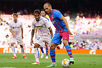 29th August 2021; Nou Camp, Barcelona, Spain; La Liga football league, FC Barcelona versus Getafe;  Braitwaite controls the ball as he moves forward