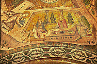 The 11th century Roman Byzantine Church of the Holy Saviour in Chora and its mosaic of the presentation of the Virgin Mary as a child to the Temple. Endowed between 1315-1321  by the powerful Byzantine statesman and humanist Theodore Metochites. Istanbul