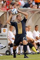 Eduardo Coudet (21) of the Philadelphia Union. Manchester United (EPL) defeated the Philadelphia Union (MLS) 1-0 during an international friendly at Lincoln Financial Field in Philadelphia, PA, on July 21, 2010.