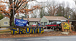 PLYMOUTH, CT-011621JS02- I hope along Poland Brook Road in Plymouth still has Trump signs as well as a Joe lost sign throughout their property. <br /> Jim Shannon Republican-American