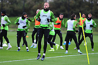 Mike van der Hoorn of Swansea City in action during the Swansea City Training at The Fairwood Training Ground in Swansea, Wales, UK. Wednesday 30 October  2019