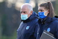 head coach Guido Brepoels of KRC Genk pictured before  a female soccer game between FC Femina White Star Woluwe and KRC Genk on the third matchday of play off 2 in the 2020 - 2021 season of Belgian Scooore Womens Super League , Friday 23 th of April 2021  in Woluwe , Belgium . PHOTO SPORTPIX.BE | SPP | SEVIL OKTEM