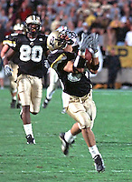 Purdue wide reciever Seth Morales makes a game winning TD catch against Ohio State, October 28, 2000.