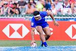 Belgium Tuatagaloa of Samoa in action during the HSBC Hong Kong Sevens 2018 Shield Final match between Samoa and Wales on April 8, 2018 in Hong Kong, Hong Kong. Photo by Marcio Rodrigo Machado / Power Sport Images