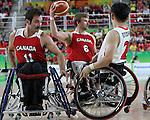 Chad Jassman, Rio 2016 - Wheelchair Basketball // Basketball en fauteuil roulant.<br /> The Canadian men's wheelchair basketball team plays against Japan in the preliminaries // L'équipe canadienne masculine de basketball en fauteuil roulant joue contre le Japon dans la ronde préliminaire. 11/09/2016.