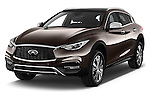 2017 Infiniti QX0 Premium-Tech-4wd 5 Door Suv Angular Front stock photos of front three quarter view