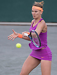 April 6,2017:   Lucie Safarova (CZE) loses to Laura Siegemund (GER) 6-2, 6-3, at the Volvo Car Open being played at Family Circle Tennis Center in Charleston, South Carolina.  ©Leslie Billman/Tennisclix/Cal Sport Media
