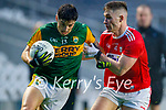Tony Brosnan, Kerry in action against Kevin Flahive, Cork, during the Munster GAA Football Senior Championship Semi-Final match between Cork and Kerry at Páirc Uí Chaoimh in Cork.