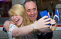 Selfie time for First Minister Alex Salmond on the campaign trail.