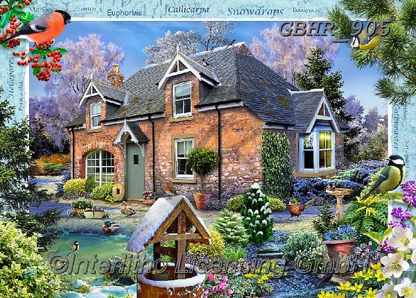 Howard, LANDSCAPES, LANDSCHAFTEN, PAISAJES,cottage,countryside, paintings+++++,GBHR905,#l#, EVERYDAY