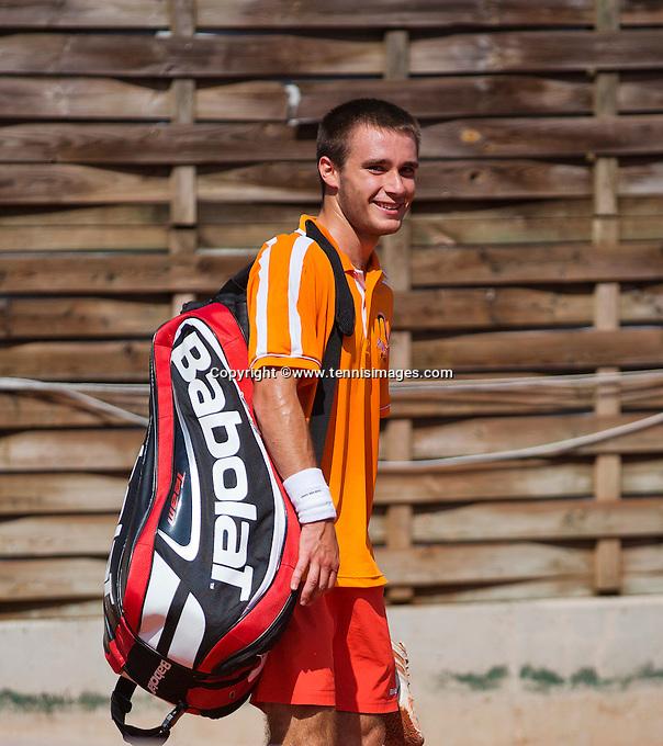 Austria, Kitzbühel, Juli 18, 2015, Tennis,  Junior Davis Cup, Guy de Heijer (NED)<br /> Photo: Tennisimages/Henk Koster