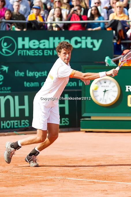 15-09-12, Netherlands, Amsterdam, Tennis, Daviscup Netherlands-Suisse, Doubles, Robin Haase