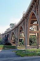 Pasadena CA: Colorado Street Bridge, 1912-13. John Drake Merceau, Designer and Engineer. Photo '89.
