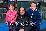 Enjoying the playground in the Listowel town park on Easter Sunday, l to r: Chloe, Gillian and Richie O'Rourke.