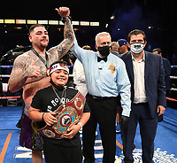CARSON, CA - MAY 1: Andy Ruiz Jr. after defeating Chris Arreola on the Fox Sports PBC Pay-Per-View fight on May 1, 2021 at Dignity Health Sports Park in Carson, CA. (Photo by Frank Micelotta/Fox Sports/PictureGroup)