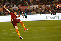 Calcio, Serie A: Roma vs Juventus. Roma, stadio Olimpico, 14 maggio 2017. <br /> Roma's Stephan El Shaarawy kicks the ball during the Italian Serie A football match between Roma and Juventus at Rome's Olympic stadium, 14 May 2017. Roma won 3-1.<br /> UPDATE IMAGES PRESS/Riccardo De Luca