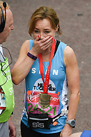 Sian Williams<br /> at the finish line on The Mall at the 2017 London Marathon, London. <br /> <br /> <br /> ©Ash Knotek  D3254  23/04/2017