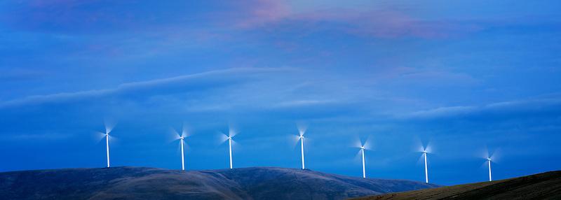 Windmills in Sherman County near the Columbia River Gorge, Oregon