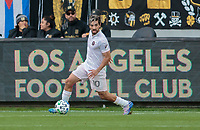 LOS ANGELES, CA - MARCH 01: Rodolfo Pizarro #10 of Inter Miami CF turns with the ball during a game between Inter Miami CF and Los Angeles FC at Banc of California Stadium on March 01, 2020 in Los Angeles, California.