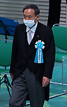 Japan's Chief Cabinet Secretary Yoshihide Suga wearing face masks attend the memorial service for the war dead of World War II marking the 75th anniversary in Tokyo, Japan on August 15, 2020. (Photo by AFLO)