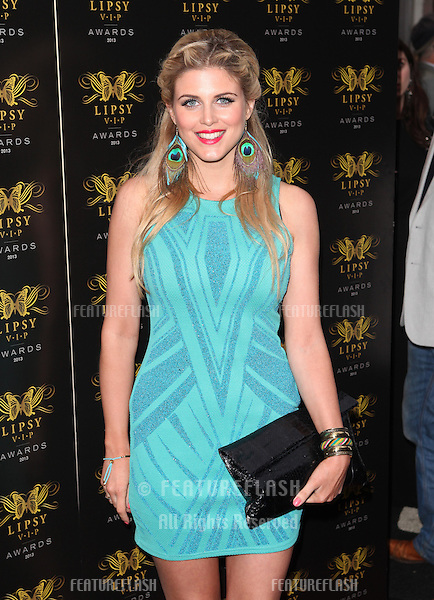 Ashley James arriving for the Lipsy Fashion Awards,  at Dstrkt, London. 29/05/2013 Picture by: Alexandra Glen / Featureflash