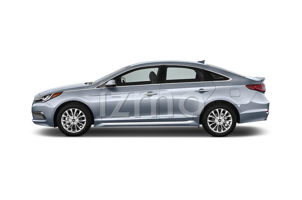 Car driver side profile view of a 2015 Hyundai Sonata 2.4 Auto Limited 4 Door Sedan