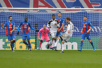 Joachim Andersen of Fulham shoots at goal during the Premier League behind closed doors match between Crystal Palace and Fulham at Selhurst Park, London, England on 28 February 2021. Photo by Vince Mignott / PRiME Media Images.