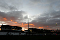 The sun goes down over the Athletic Ground during the English National League match between Richmond and Blackheath  at Richmond Athletic Ground, Richmond, United Kingdom on 4 January 2020. Photo by Carlton Myrie.