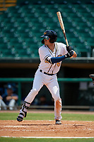 Montgomery Biscuits Tristan Gray (6) at bat during a Southern League game against the Mobile BayBears on May 2, 2019 at Riverwalk Stadium in Montgomery, Alabama.  Mobile defeated Montgomery 3-1.  (Mike Janes/Four Seam Images)
