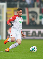 Tim MATAVZ, FCA 23 <br /> FC AUGSBURG -  SV WERDER BREMEN  1-3<br /> Football 1. Bundesliga , Augsburg,17.03.2018, 27. match day,  2017/2018, 1.Liga, 1.Bundesliga, <br />  *** Local Caption *** © pixathlon<br /> Contact: +49-40-22 63 02 60 , info@pixathlon.de