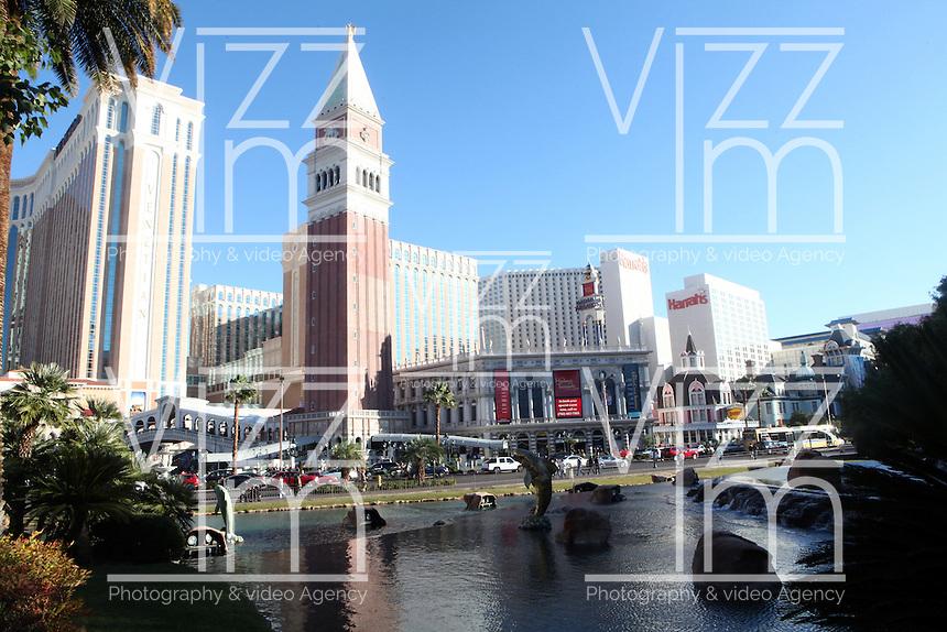 LAS VEGAS-ESTADOS UNIDOS. Hotel Venetian de la ciudad de Las Vegas, sitio de descanso y placer de turistas y residentes americanos. Photo: VizzorImage