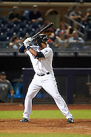 Peoria Javelinas first baseman Gabriel Quintana (24) at bat during an Arizona Fall League game against the Glendale Desert Dogs on October 19, 2015 at Peoria Stadium in Peoria, Arizona.  Glendale defeated Peoria 4-2.  (Mike Janes/Four Seam Images)