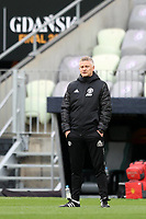 25th May 2021; Gdansk, Poland; Manchester United training at the Stadion Energa Gdańsk prior to their Europa League final versus Villarreal on May 26th;  OLE GUNNAR SOLSKJAER watches his players