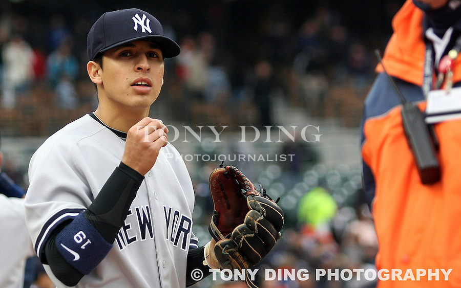 29 April 2009: NAMES during the Yankees at Tigers Major League Baseball game at Comerica Park, in Detroit, Michigan. New York won 8-6.